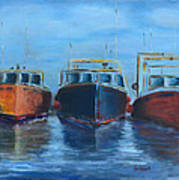 High Tide Breton Harbor Art Print