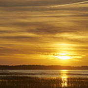 High Tide In The Marsh Art Print by Phill Doherty