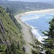 High View Of Oregon Coast Art Print