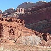 High Wall Of Red Cliffs Art Print