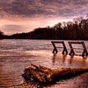 High Water On The Wolf River Art Print