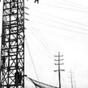 High Wire Suicide Rescue Art Print