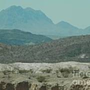 High And Low Mountain Layers Art Print