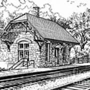 Highlands Train Station Art Print