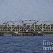 Highway 41 Swing Bridge Over The Wando River Art Print