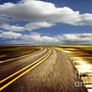 Highway Run Art Print