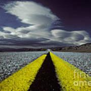 Highway Through Death Valley Art Print