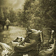 Hiking Boots Art Print