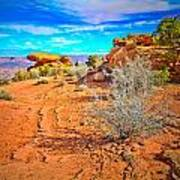 Hiking In Canyonlands Art Print