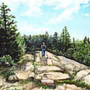 Hiking In Maine Art Print