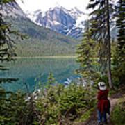Hiking On Emerald Lake Trail In Yoho Np-bc Art Print