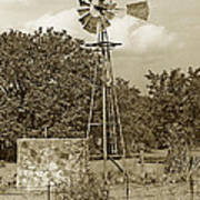 Hill Country Windmill Art Print