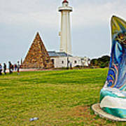 Hill Lighthouse Built In 1861 And Donkin Memorial Pyramid Honoring The Wife Of Sir Rufus Donkin-sout Art Print