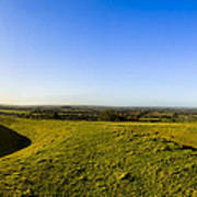 Hill Of Tara - Landscape Panorama Art Print by Mark E Tisdale