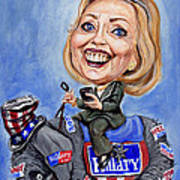 Hillary Clinton 2016 Art Print by Mark Tavares