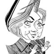 Hillary Clinton Debate Art Print
