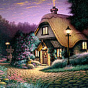 Hillcrest Cottage Art Print