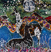 Hills Alive With Llamas Art Print