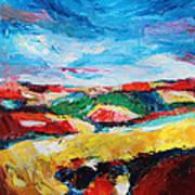 Hills In Dream 2 Art Print by Becky Kim