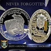 Hillsborough County Sheriff Memorial Print by Gary Yost
