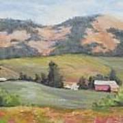 Hillside Farm Art Print