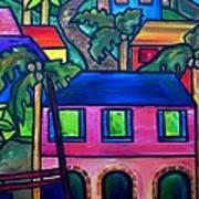 Hillside In St. John Art Print