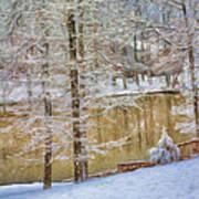 Hillside Snow - Winter Landscape Art Print