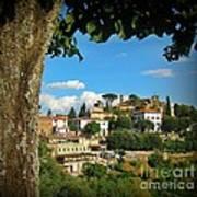 Hillside Tuscan Village  Art Print