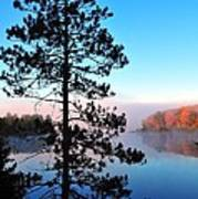 Hilltop View Of Stoneledge Lake Art Print by Terri Gostola