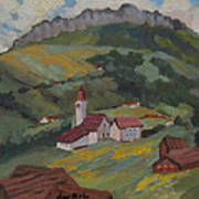 Hilltop Village Switzerland Art Print