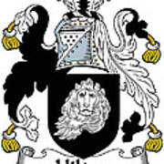 Hilton Coat Of Arms Irish Art Print