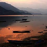 Phewa Lake, Pokhara, Nepal Art Print