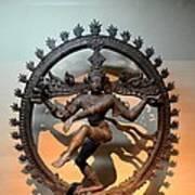 Hindu Statue Of Shiva In Nataraja Dance Pose Art Print
