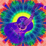 Hippie Guitar Art Print