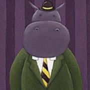 Hippo Nursery Art Art Print by Christy Beckwith