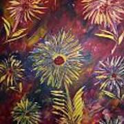 Hippy Flowers Art Print