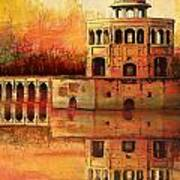 Hiran Minar Art Print
