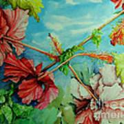 Hiroko's Hibiscus 3 Art Print