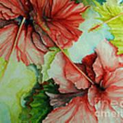 Hiroko's Hibiscus Art Print