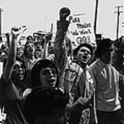 Hispanic Anti-viet Nam War Rally Tucson Arizona 1971 Black And White Art Print