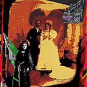 Hispanic Wedding Libertad Lady Photo Gallery Collage 1880-2010 Art Print