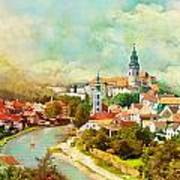 Historic Centre Of Cesky Krumlov Art Print