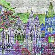 Historic Churches St Louis Mo - Digital Effect 4 Art Print