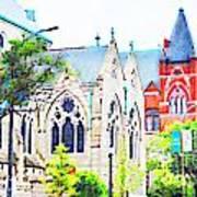 Historic Churches St Louis Mo - Digital Effect 7 Art Print