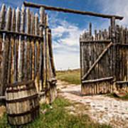Historic Fort Bridger Gate - Wyoming Art Print