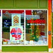 Historic Habs Hockey Jersey St Henri Storefront Les Demons De Notre Dame Montreal Art Carole Spandau Art Print