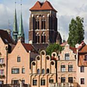 Historic Houses In Gdansk Art Print
