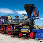 Historic Jupiter Steam Locomotive - Promontory Point Art Print by Gary Whitton