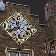 Historic London Clock Art Print