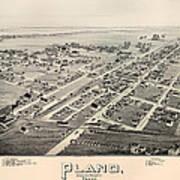 Historic Map Of Plano Texas 1891 Art Print